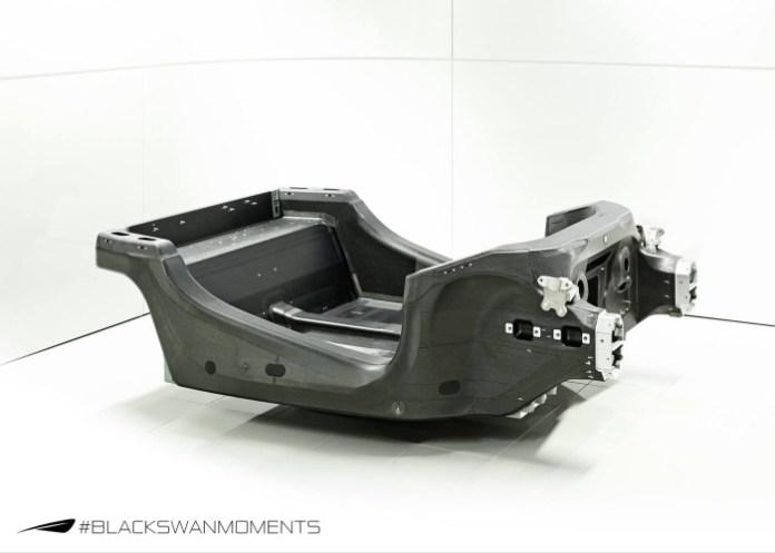McLaren Sports Series carbon fiber monocoque chassis