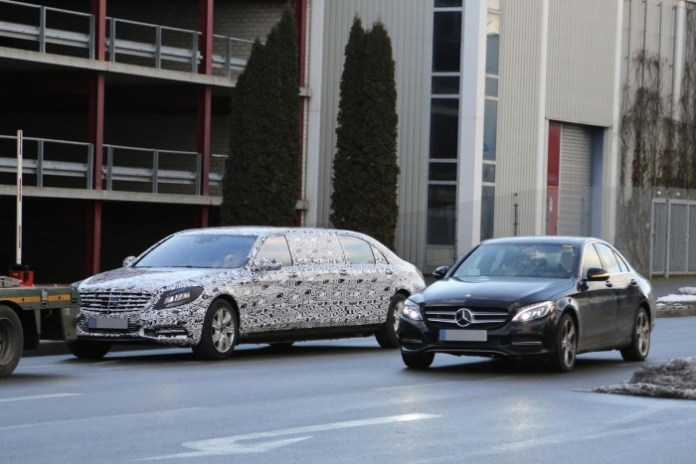 Mercedes S-Class Pullman 2016 Spy Photos (4)