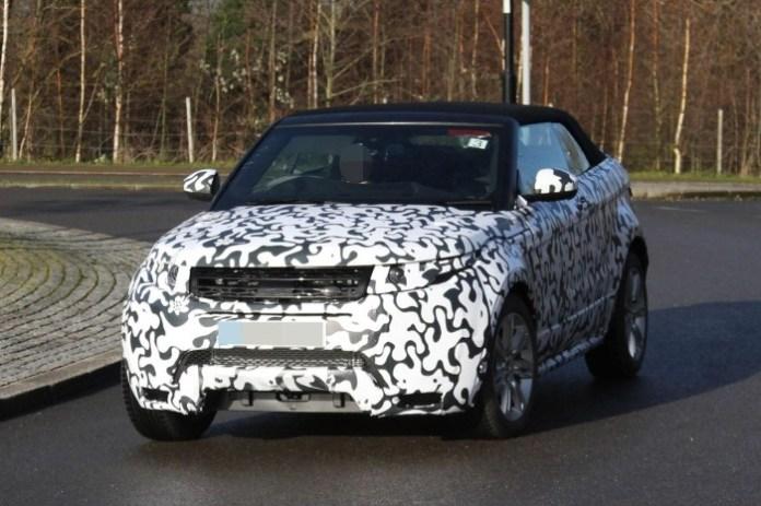 Range Rover Evoque Cabrio spy photos (3)