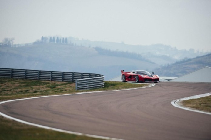 Sebastian Vettel and the Ferrari FXX K (1)