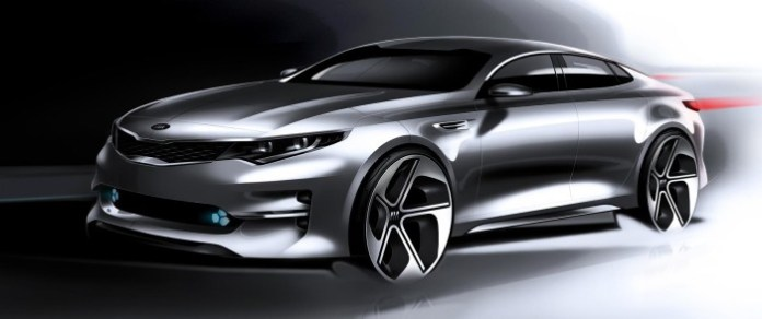 2016 Kia Optima teaser sketch 1