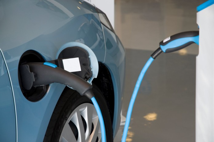 Electric car charging_October 2013