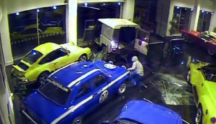 Ford Escort Mexico stolen in ram raid