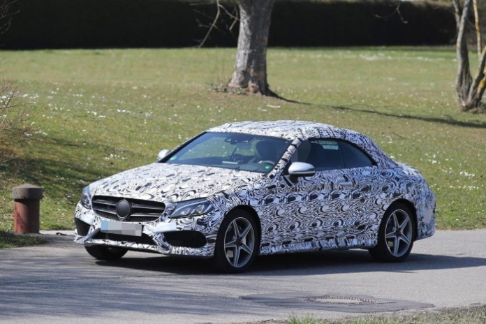 Mercedes C-Class Coupe and C-Class Cabriolet 2016 Spy Photos (11)