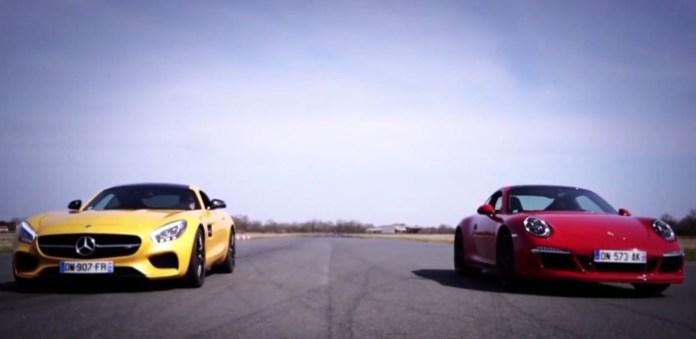 Porsche 911 Carrera GTS Vs Mercedes AMG GT S