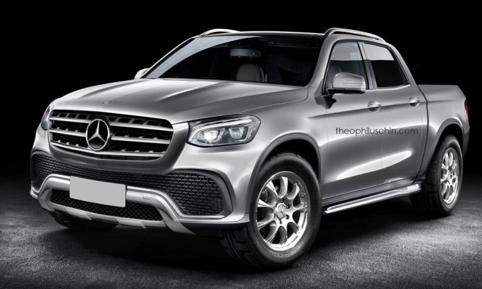 mercedes benz pickup rendering