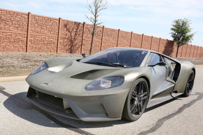 Ford GT 2016 spy photos (2)