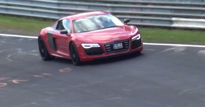 Audi R8 E-tron Testing on the Nurburgring