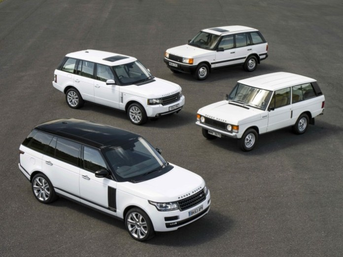 Four generations Land Rover Range Rover (3)