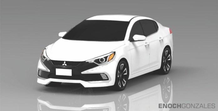 Mitsubishi Lancer rendering 2