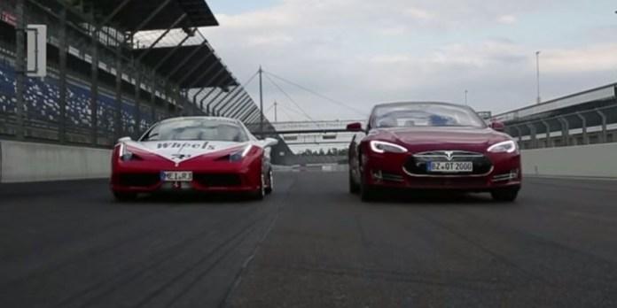 Tesla Model S P85D vs Ferrari 458 S