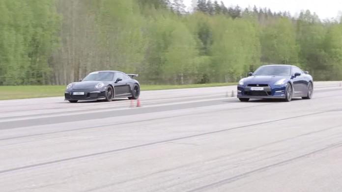 911 GT3 Vs GT-R