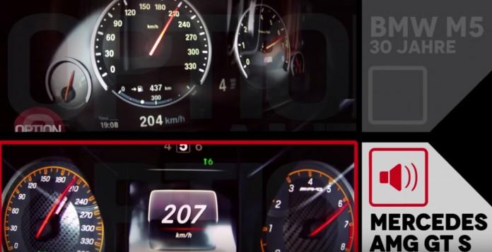 "0-200 km:h - BMW M5 ""30 Jahre M5"" vs Mercedes AMG GT S"