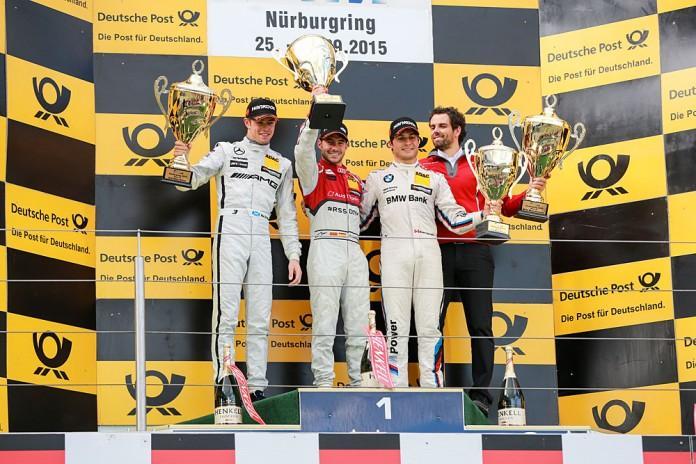 Motorsports: DTM race Nuerburgring, #17 Miguel Molina (ESP, Audi Sport Team Abt Sportsline, Audi RS5 DTM), #3 Paul Di Resta (GB, Mercedes-AMG DTM Team HWA, Mercedes-AMG C 63 DTM), #7 Bruno Spengler (CDN, BMW Team MTEK, BMW M4 DTM)