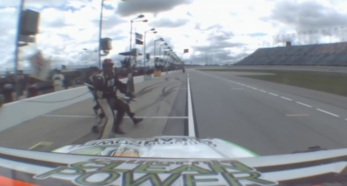 Hemric hits jackman after brake issues