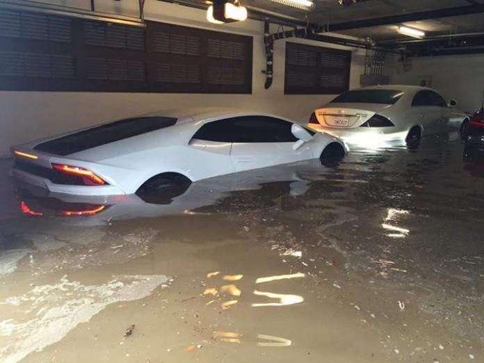 Lamborghini Huracan flooded