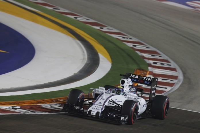 Marina Bay Circuit, Singapore. Friday 18 September 2015. Felipe Massa, Williams FW37 Mercedes. Photo: Alastair Staley/Williams ref: Digital Image WR6T4071