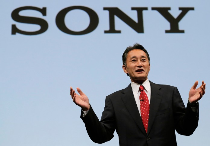 Sony President and CEO Kazuo Hirai speaks during a press conference at the Sony Corp. headquarters in Tokyo, on May 22.