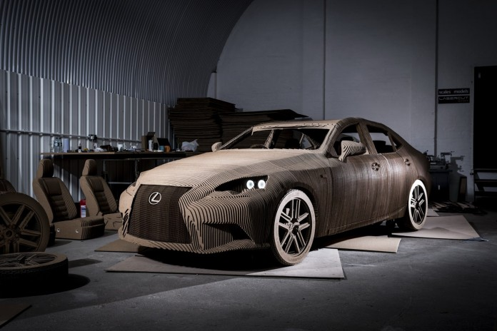 Lexus IS full-size origami replica (2)