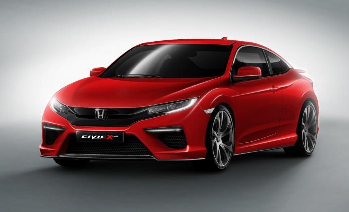 2016-Honda-Civic-Coupe-front-three-quarter-rendering
