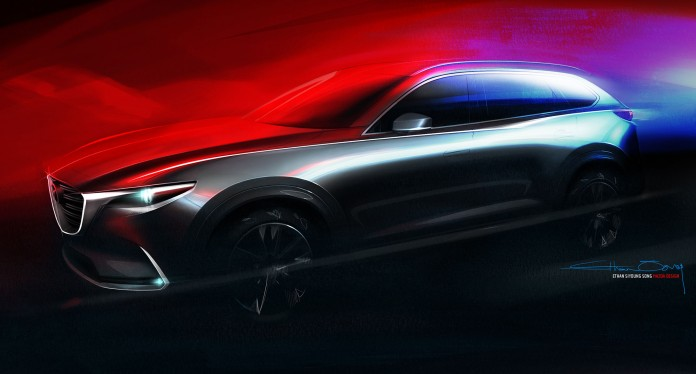 All-new Mazda CX-9 Design Sketch (CNW Group/Mazda Canada Inc.)