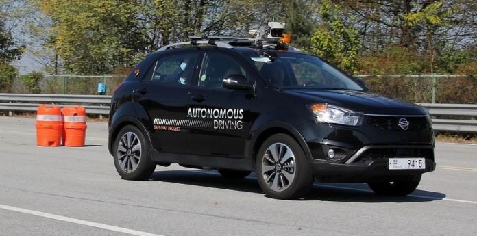 Ssangyong_Driverless_car_testing_1