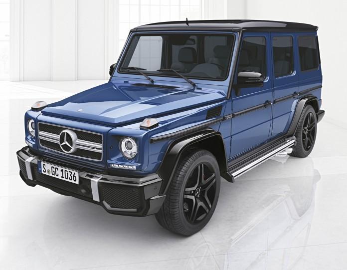 Mercedes-Benz G-Klasse, designo manufaktur, Exterieur: designo mauritiusblau metallic Mercedes-Benz G-Klasse, designo manufaktur, exterior: designo mauritiusblau metallic