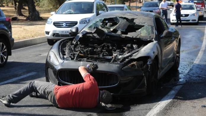 Maserati GranTurismo MC Stradale fire (2)