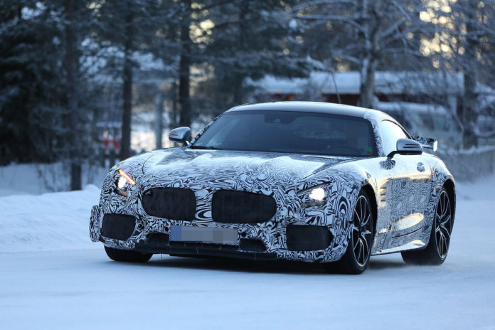 Mercedes AMG GT-R 2016 spy photos (1)