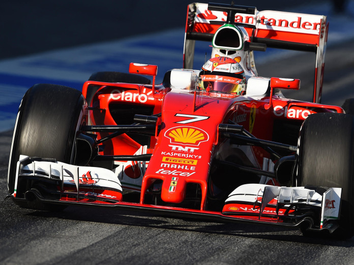 Kimi Raikkonen (FIN) Ferrari SF16-H at Formula One Testing, Day Three, Barcelona, Spain, Wednesday 24 February 2016.