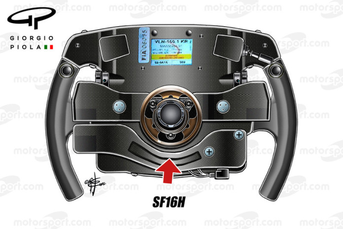 Ferrari SF16-H Steering Wheel
