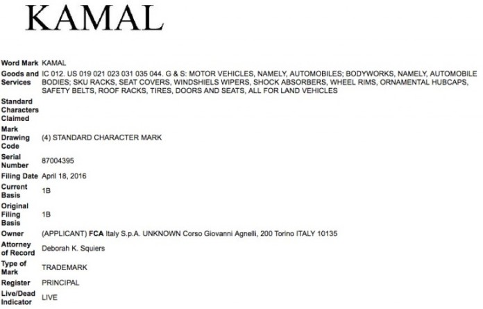 FCA-Kamal-Trademark-Application-USPTO-768x491