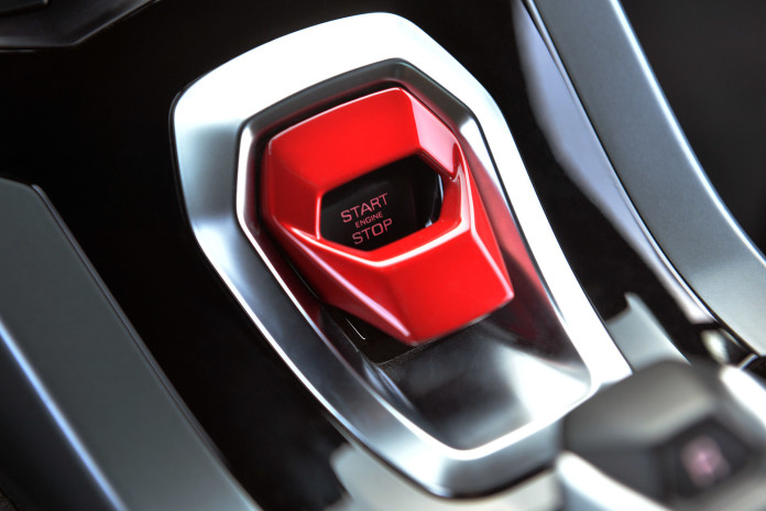huracan start engine button