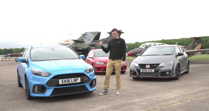 Ford Focus RS Vs Honda Civic Type R Vs VW Golf R