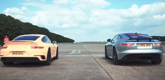 Jaguar F-Type SVR vs Porsche 911 Turbo