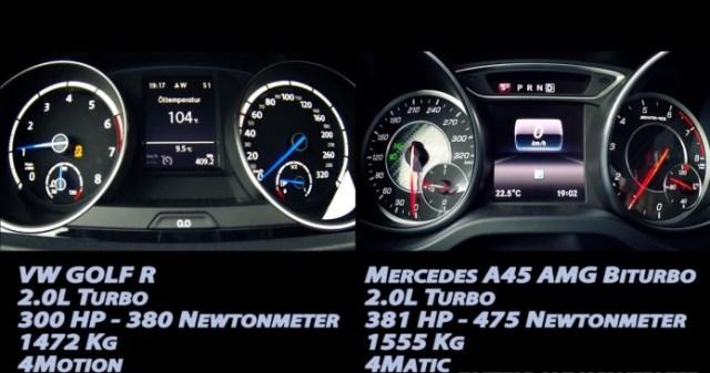 VW Golf R Vs Mercedes-AMG A 45