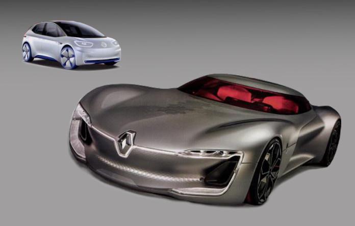Renault TreZor and Volkswagen I.D Concept (1)