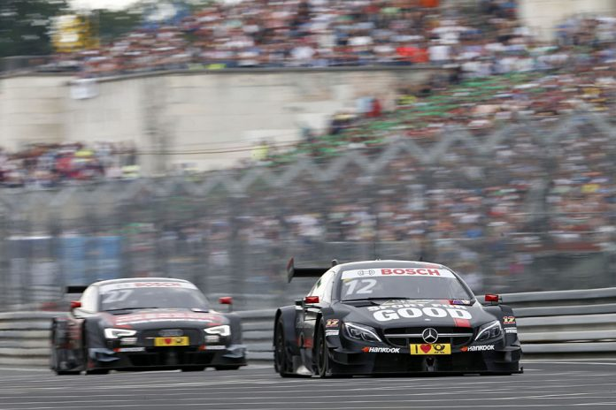 #27 Adrien Tambay, Audi RS5 DTM, #12 Daniel Juncadella, Mercedes-AMG C 63 DTM