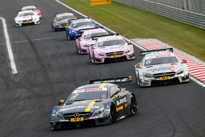 Motorsports: DTM race Budapest 2016, #3 Paul Di Resta (GBR, HWA, DTM Mercedes AMG C-Coupe), #6 Robert Wickens (CAN, HWA, DTM Mercedes AMG C-Coupe),