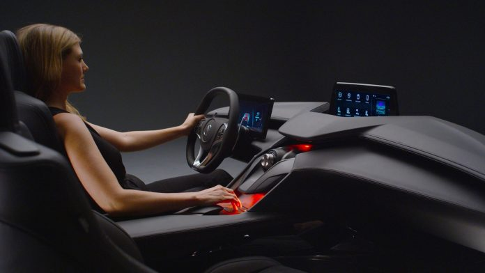 The Acura Precision Cockpit fuses a sporty design with a next-gen touchpad-based interface and new Acura operating system.