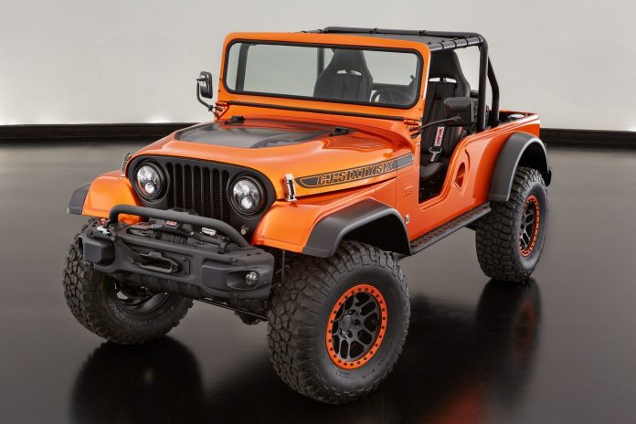 The Jeep CJ66 is a unique cocktail of three Jeep vehicle generations and demonstrates that new Mopar power applications are also available for those more at home on the trail than the street.