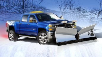Equipped with a custom stainless steel snowplow, the Silverado 2