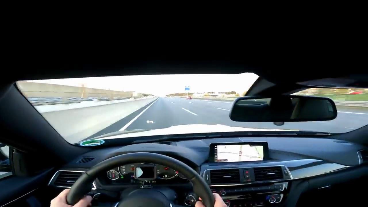 Το BMW M4 «flats» στα φρένα από 280 km / h και αποφεύγει τη σύγκρουση