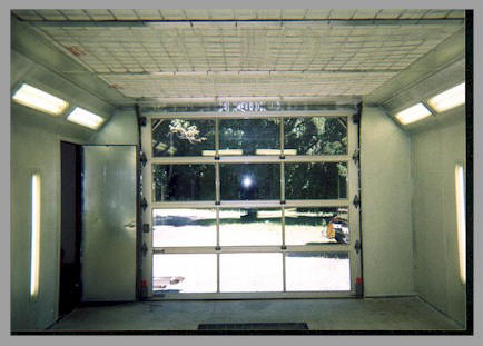 This Is A Picture Of The Inside Booth Looking Out That Diffusion Media Installed In Ceiling Notice Glass Overhead Door