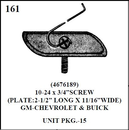 W-E 0161 MOULDING BOLTS/ 15 PER BOX