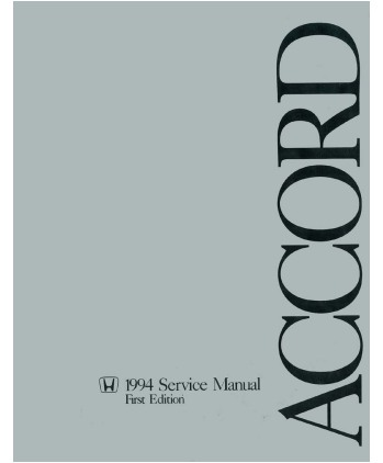 1994 HONDA ACCORD Body, Chassis & Electrical Service Manual