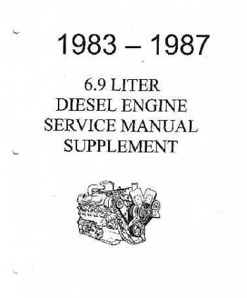 1983-87 FORD TRUCK 6.9 DIESEL Engine Service Manual Supplement