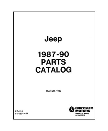 1987-90 JEEP Body & Chassis, Text & Illustration Parts Book