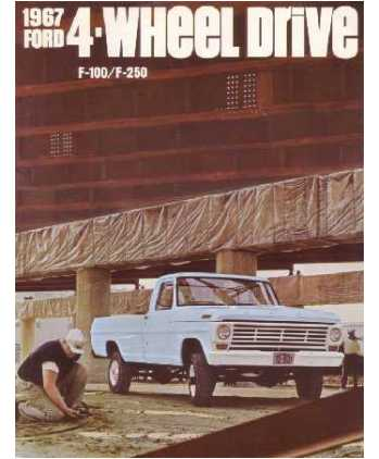 2008 ford f150 wiring diagrams the fall of house usher plot diagram 1967 f100-f250, 4 wheel drive truck sales brochure