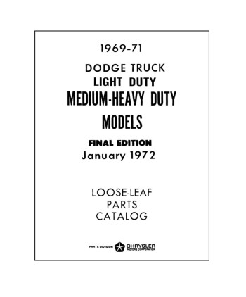 1969-71 DODGE TRUCK Body & Chassis, Text & Illustration